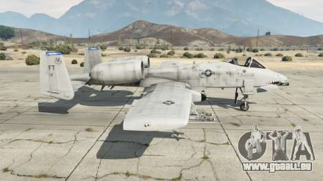 GTA 5 Fairchild Republic A-10A Thunderbolt II v1.2 zweite Screenshot