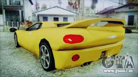 Gangsta Infernus pour GTA San Andreas laissé vue