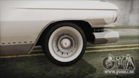 Cadillac Eldorado Biarritz 1959 pour GTA San Andreas sur la vue arrière gauche