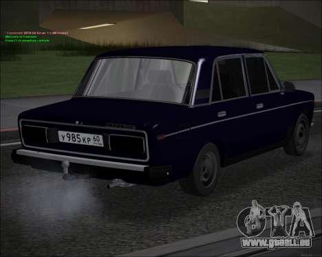 VAZ 2106 GVR pour GTA San Andreas sur la vue arrière gauche