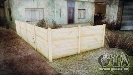 Wooden Fences HQ 1.2 für GTA San Andreas her Screenshot