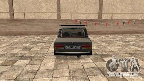 VAZ 2107 JDM für GTA San Andreas zurück linke Ansicht
