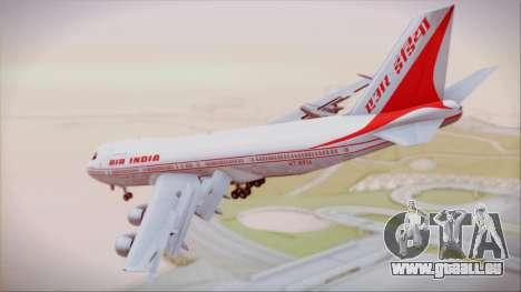 Boeing 747-237Bs Air India Krishna Deva Raya pour GTA San Andreas laissé vue