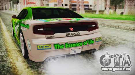 GTA 5 Bravado Buffalo Sprunk pour GTA San Andreas vue de dessus