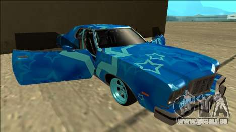 Ford Gran Torino Drift Blue Star für GTA San Andreas Unteransicht