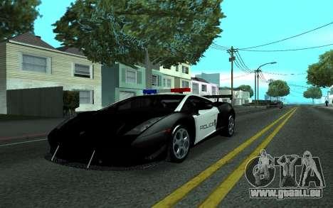 Lamborghini Gallardo Tunable für GTA San Andreas zurück linke Ansicht