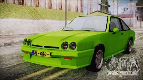 Opel Manta New Kids HQ pour GTA San Andreas
