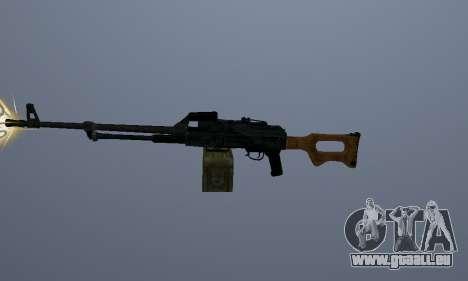 Die Kalaschnikow-Maschinengewehr für GTA San Andreas zweiten Screenshot