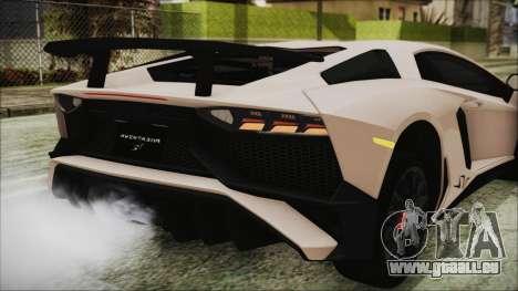 Lamborghini Aventador SV 2015 für GTA San Andreas obere Ansicht