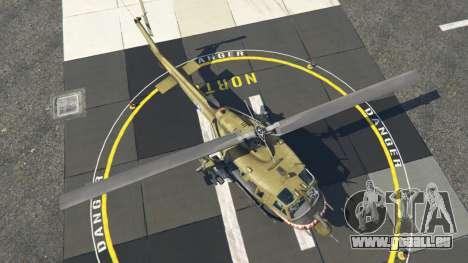 GTA 5 Bell UH-1D Iroquois Huey Gunship vierten Screenshot