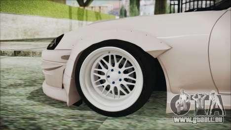 Toyota Supra JZA80 RocketBunny pour GTA San Andreas sur la vue arrière gauche