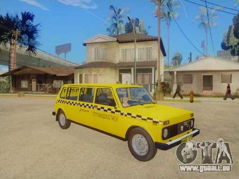 VAZ 2131 7-Porte de Taxi pour GTA San Andreas laissé vue