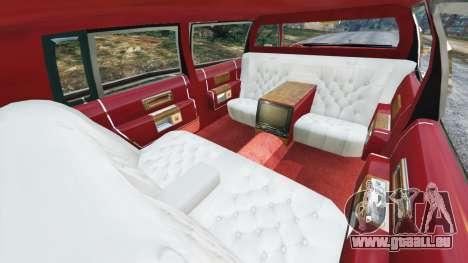 GTA 5 Cadillac Fleetwood 1985 Limousine [Beta] rechte Seitenansicht