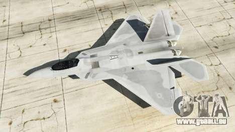 GTA 5 Lockheed Martin F-22 Raptor quatrième capture d'écran