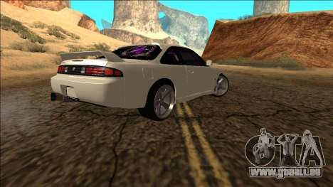 Nissan Silvia S14 Drift für GTA San Andreas rechten Ansicht
