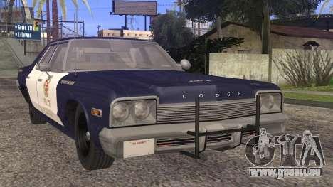 Dodge Monaco 1974 LSPD StickTop Version für GTA San Andreas