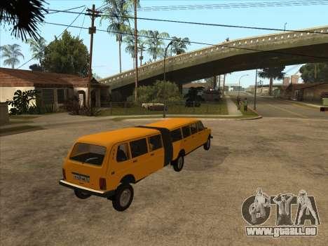 La remorque à la VAZ 2131 Hyper pour GTA San Andreas laissé vue