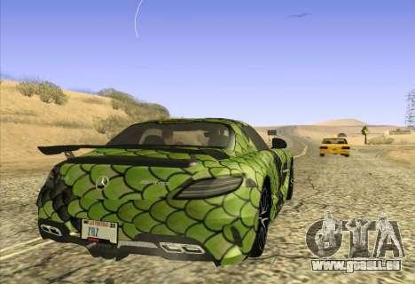 Mercedes-Benz SLS AMG Snake pour GTA San Andreas sur la vue arrière gauche