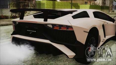Lamborghini Aventador SV 2015 für GTA San Andreas Seitenansicht
