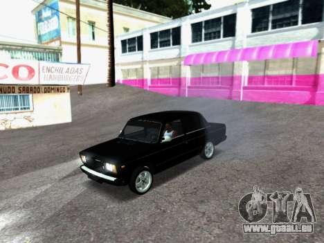 VAZ 2107-107 pour GTA San Andreas laissé vue