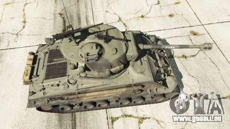 GTA 5 M4A3E8 Sherman Fury Rückansicht