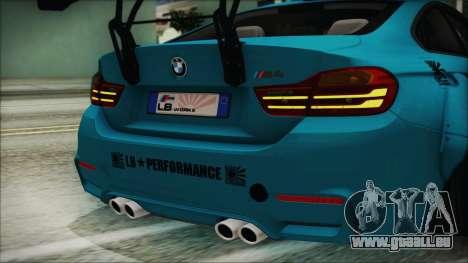 BMW M4 2014 Liberty Walk pour GTA San Andreas vue intérieure