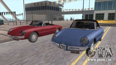1966 Alfa Romeo Spider Duetto [IVF] pour GTA San Andreas vue intérieure