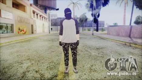 GTA Online Skin 8 pour GTA San Andreas deuxième écran