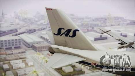 Boeing 747-283BM Scandinavian Airlines für GTA San Andreas zurück linke Ansicht
