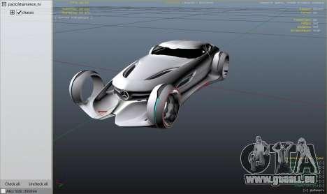 GTA 5 Mercedes-Benz Silver Lightning - Replace arrière droit vue de côté