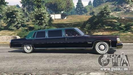 GTA 5 Cadillac Fleetwood 1985 Limousine [Beta] linke Seitenansicht