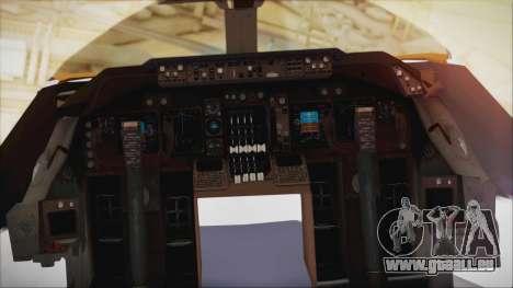 Boeing 747-237Bs Air India Akbar für GTA San Andreas rechten Ansicht