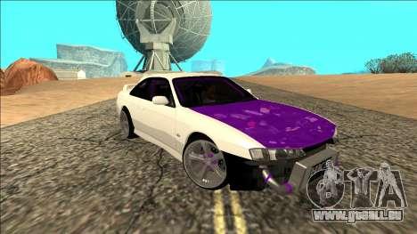 Nissan Silvia S14 Drift für GTA San Andreas Innenansicht