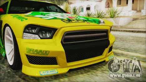 GTA 5 Bravado Buffalo Sprunk pour GTA San Andreas vue intérieure