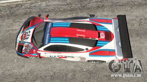 GTA 5 McLaren F1 GTR Longtail [Martini Racing] vue arrière