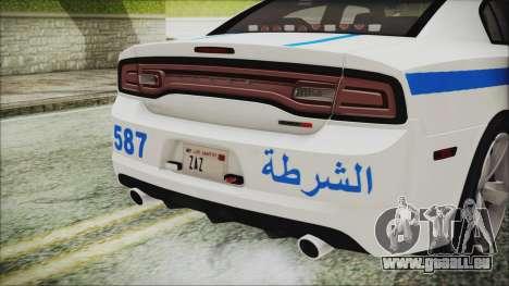 Dodge Charger SRT8 2012 Iraqi Police pour GTA San Andreas vue intérieure