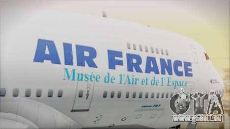 Boeing 747-128B Air France für GTA San Andreas Rückansicht