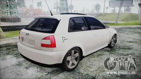Audi A3 1.8 S3 pour GTA San Andreas laissé vue