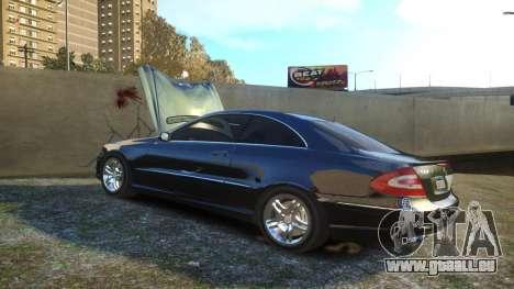 Mercedes CLK55 AMG Coupe 2003 für GTA 4 obere Ansicht