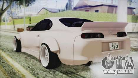 Toyota Supra JZA80 RocketBunny für GTA San Andreas linke Ansicht