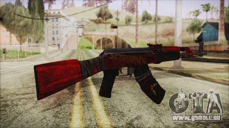Xmas AK-47 pour GTA San Andreas deuxième écran