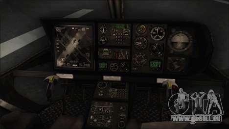 Batman Arkham Knight Police-Swat Helicopter für GTA San Andreas rechten Ansicht