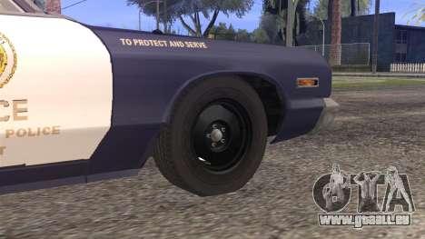 Dodge Monaco 1974 LSPD StickTop Version für GTA San Andreas zurück linke Ansicht