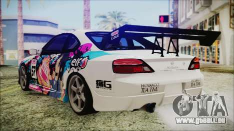 Nissan Silvia S15 Itasha Beta für GTA San Andreas linke Ansicht