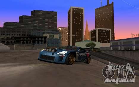 Nissan 350Z Rally pour GTA San Andreas vue arrière