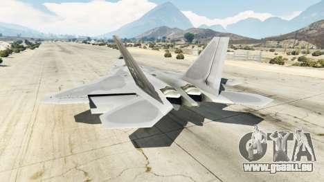GTA 5 Lockheed Martin F-22 Raptor troisième capture d'écran