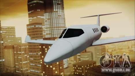Enterable Customized Shamal pour GTA San Andreas sur la vue arrière gauche