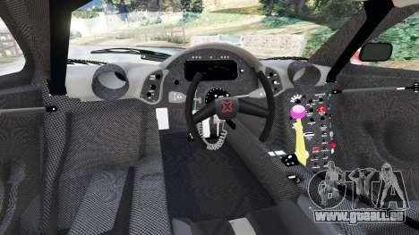 GTA 5 McLaren F1 GTR Longtail [Martini Racing] arrière droit vue de côté