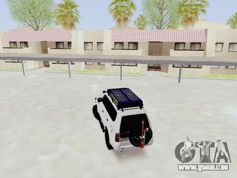Toyota Land Cruiser Prado off-road LED für GTA San Andreas zurück linke Ansicht