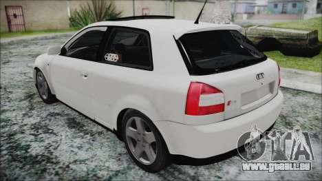 Audi A3 1.8 S3 pour GTA San Andreas sur la vue arrière gauche